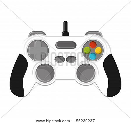 Videogame control icon. Game play leisure gaming and controller theme. Isolated design. Vector illustration