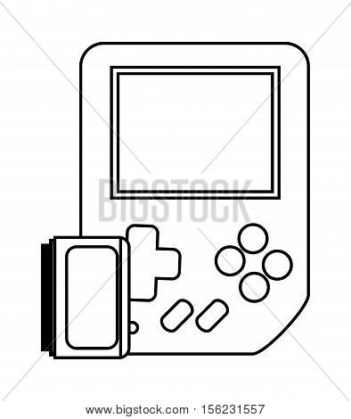 Videogame device icon. Game play leisure gaming and controller theme. Isolated design. Vector illustration