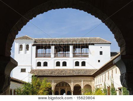 Alhambra - Patio De La Acequia Inside The Generalife Gardens