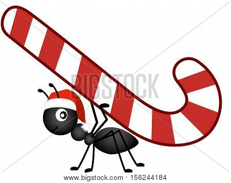 Scalable vectorial image representing a Christmas candy cane , isolated on white.