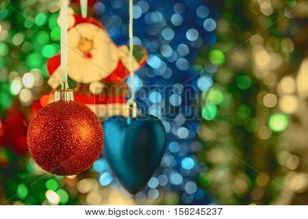 beautiful Christmas balls and toys are widely used for decoration of Christmas trees and interiors