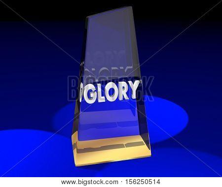 Glory Award Recognition Appreciation Attention 3d Illustration