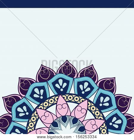 Mandale icon. Bohemic ornament indian and decoration theme. Colorful design. Vector illustraton