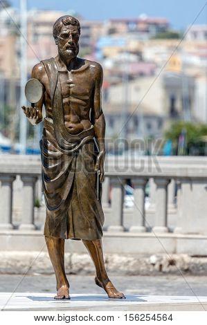 Bronze Statue Of Archimedes