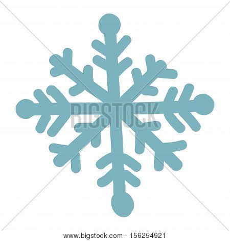 Snowflake vector illustration and season nature winter snowflake symbol. Snowflake frozen ice xmas element and snowflake frost silhouette sign. Winter snow traditional beautiful star ornament.