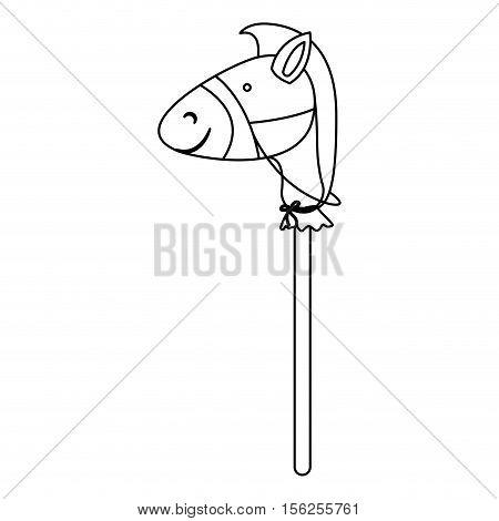 stick horse toy icon image vector illustration design