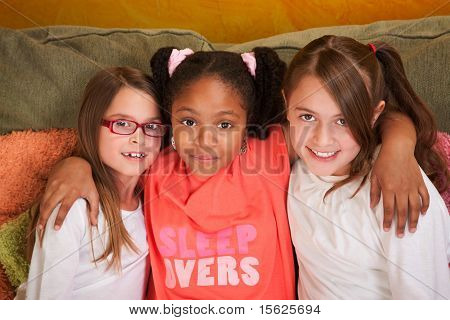 Three Little Girl Friends