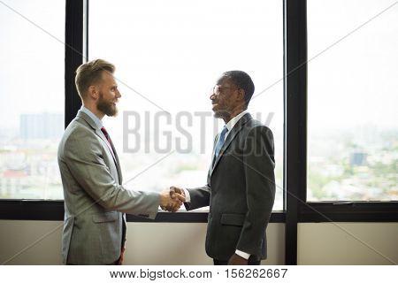 Handshake Commitment Partnership Colleagues Concept