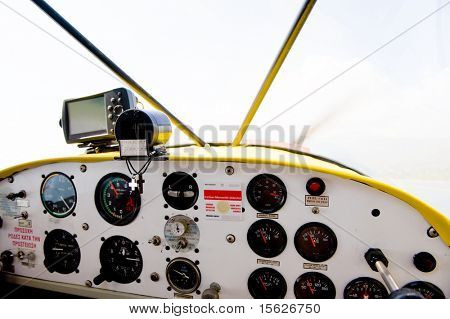 Cockpit from a little water aero plane