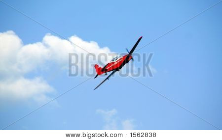 Aeroplane In The Blue Sky