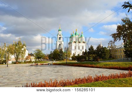 Cathedral of the Assumption of the Blessed Virgin Mary. Trinity Cathedral. Astrakhan Kremlin. Russia.