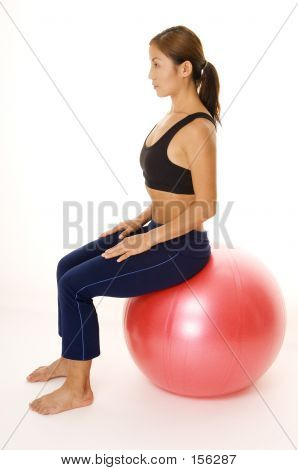 Sitting On Fitball