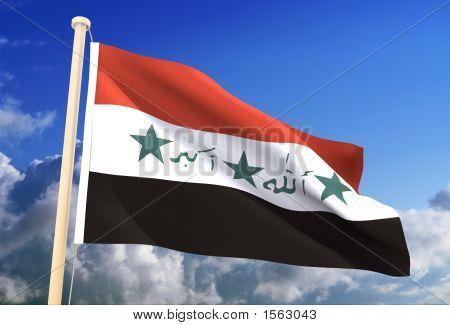 Irak-Flag (Clipping Path)