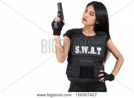 Woman And Gun