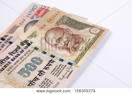 India Cancelled Banknote. India Rupee 500 And 1000 Banknote Declared Illegal. 500 And 1000 Rupee Not