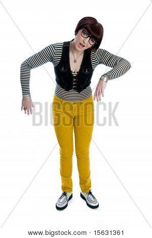 Funny Nerd Girl