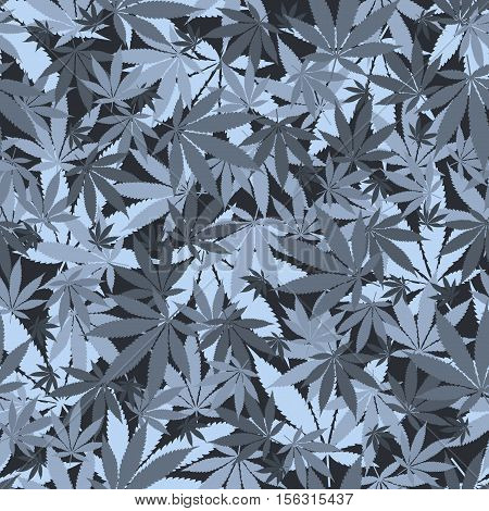 Seamless cannabis leaves pattern. Medical marijuana, legalize culture concept.
