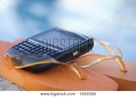 Flip Flops junto à piscina