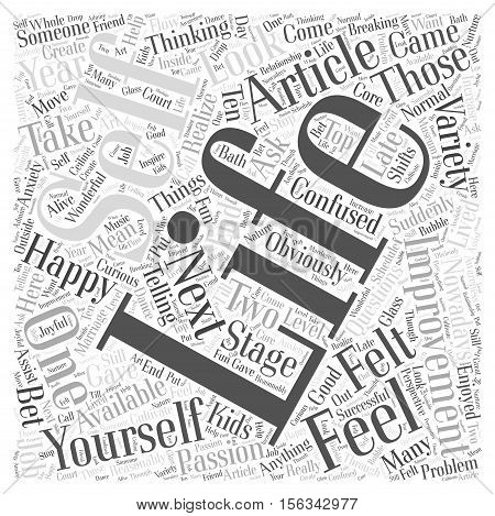 Self Improvement Article word cloud concept Text Background