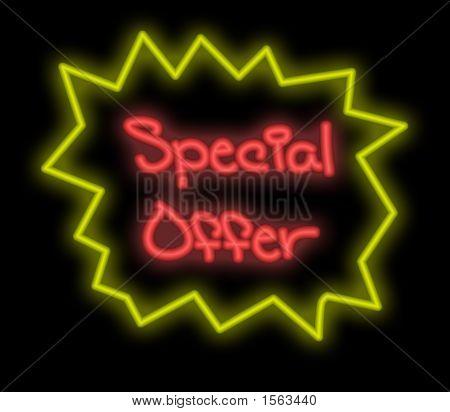 Letrero de neón - oferta especial