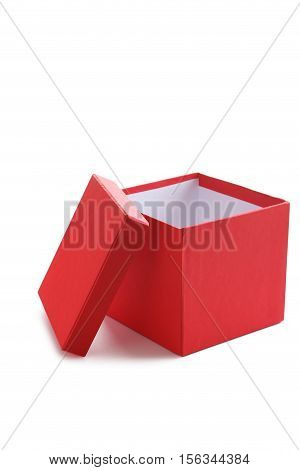 Red box isolated on a white background