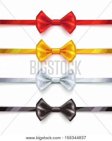 Bow ties icons collection. Vector design illustration