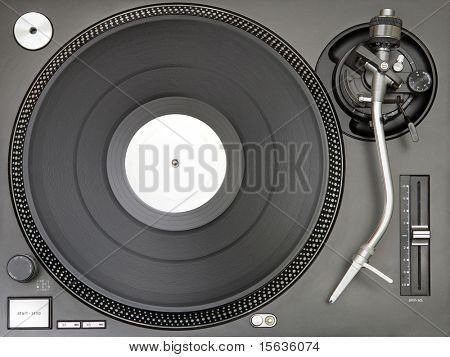 shot of turntable in beautiful soft lightness