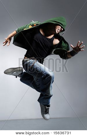 stylish and young modern style dancer is posing