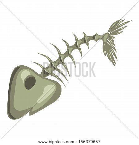 Fish bone icon. Cartoon illustration of fish bone vector icon for web