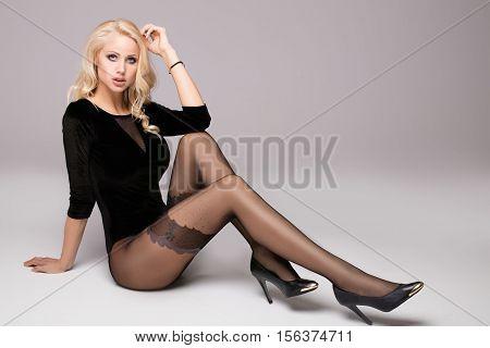 Beautiful Girl With Long Legs.