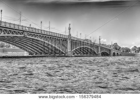 Trinity Bridge On The Neva River, St. Petersburg, Russia