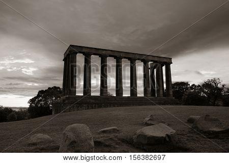 National Monument at Calton Hill in Edinburgh, UK.