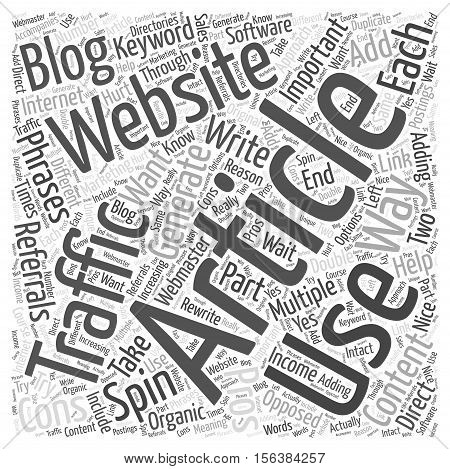 The Pros and Cons of Article Spinning Software word cloud  text backgroundconcept