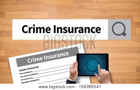 Crime Insurance Application Form Information Business adult, application, background, browse