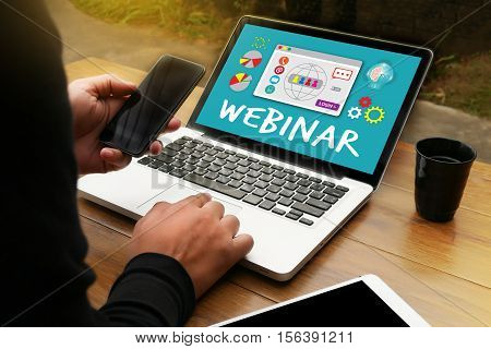 Webinar Online  E-learning  Web Webcast Technology Collaborative To Webinar
