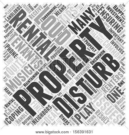 Tips for Coping with Loud Tenants word cloud concept