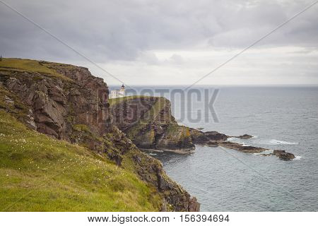 The Stoer Head lighthouse in Lairg Scotland