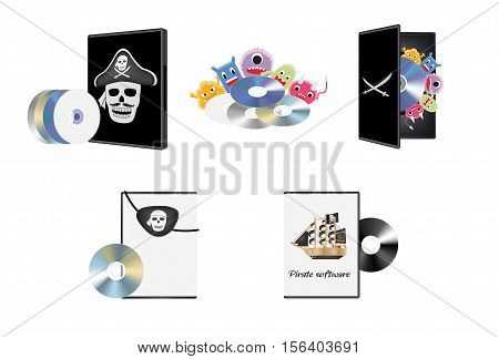 a Pirate piracy software set on a white background