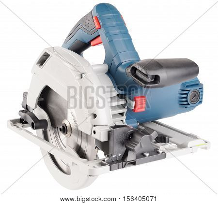 Electrical saw isometric view isolated on the white background