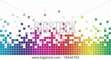 Colorful rainbow square mosaic.