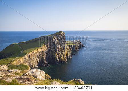 Neist Point lighthouse Isle of Skye Scotland
