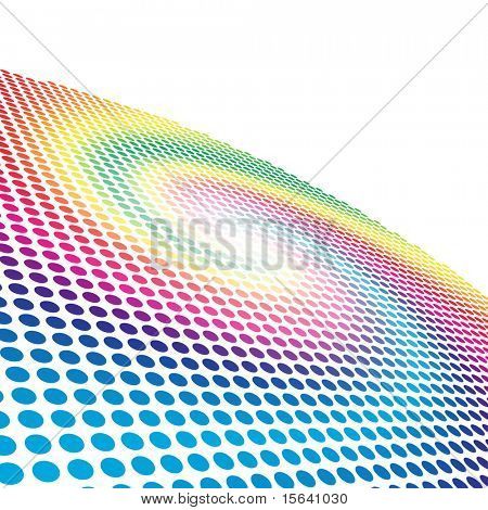 Abstract spectrum spiral circle pattern background with copy space.
