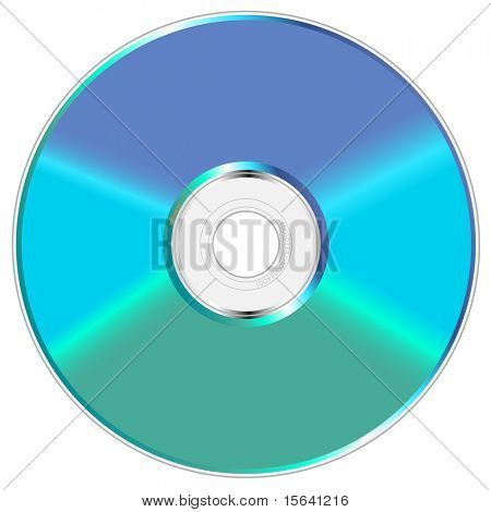 Blue and green shiny compact disc vector illustration.