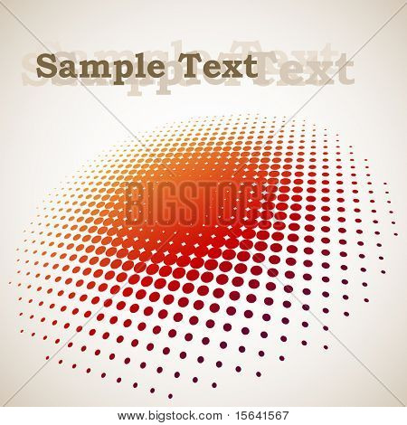 3D halftone circle background with copy space