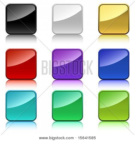 Blank color square buttons with rounded corners.
