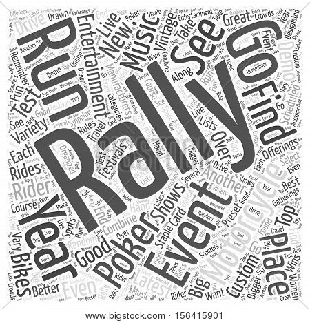 What Is A Motorcycle Rally word cloud concept text background