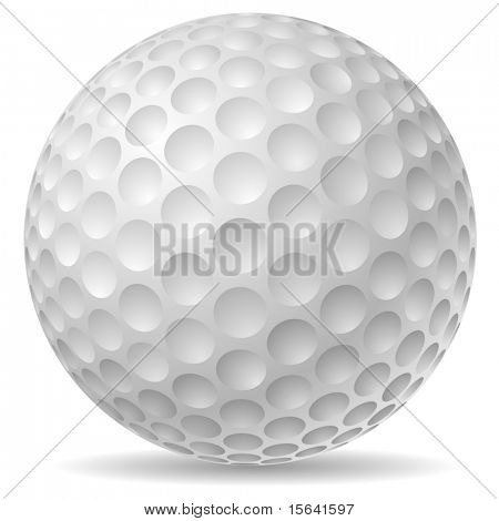 Traditional golf ball vector illustration.