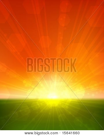 Sunset vertical vector background. EPS10 file.