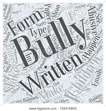 What is Bullying word cloud concept text background