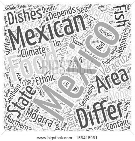 What is there to know about Mexican food word cloud concept text background